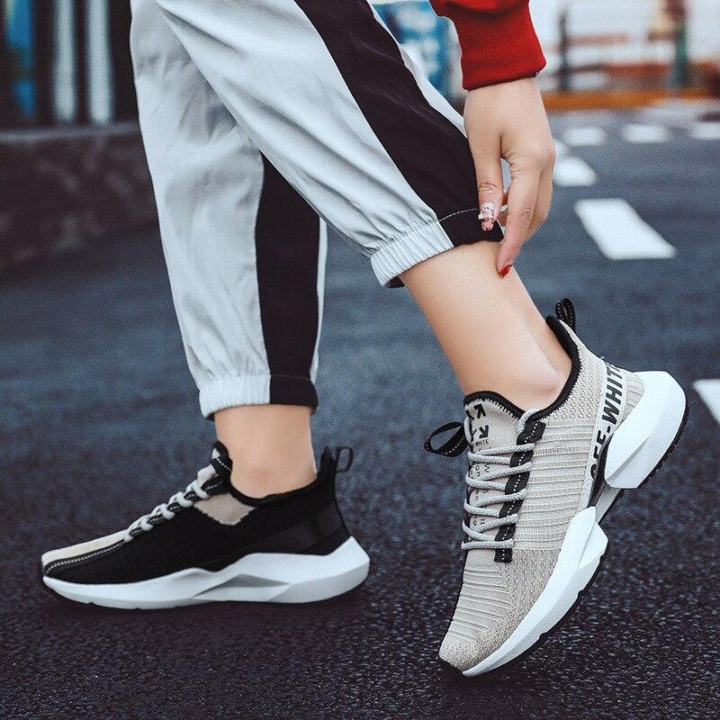 Homem Tênis Líquida Das Homens Bege Dos Alunos Lazer Respirável Edição Han De 2019 Novos Corrida Sapatos preto cinza Sapatas Superfície rnt0vrqwx
