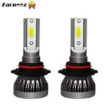 Zarpooz 6000k Auto Headlight 2PCs Mini Led Car Light H1 H4 H7 H11 9005 9006 HB4 9012 72W Pair 36W Bulb Headlamp