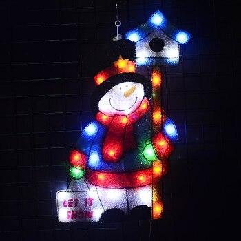 цена на 24V christmas snowman motif light - 22.24 in. Tall fairy lights christmas decoration holiday decoration home xmas tree light