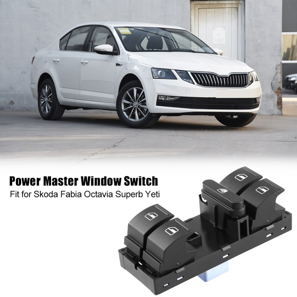Electric Power Master Window Switch for Skoda Fabia Octavia Superb Yeti 1Z0959858B Black(China)