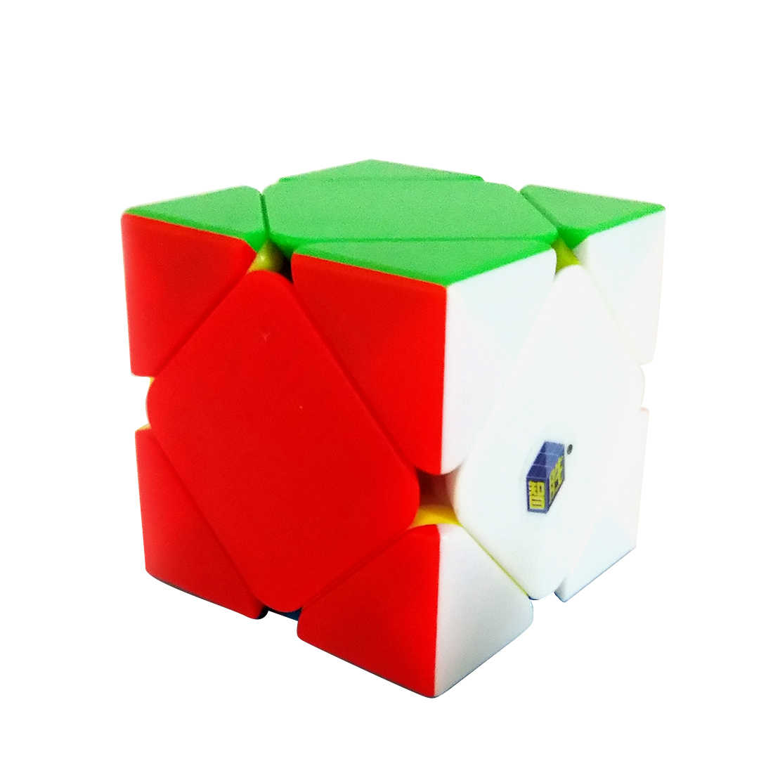 Yuxin Heiqilin 3x3x3 Torsion Oblique Twist Magic Cube Puzzle Toy for Brain Training  - Colorful