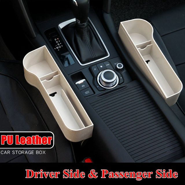 Left / Right Universal Pair Passenger Driver Car Seat Storage Space Pocket Organizer Box