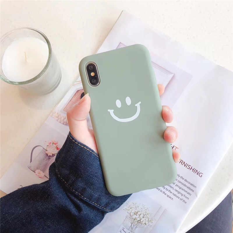 Capa para iphone 6 6s 7 8 plus sorriso rosto macio tpu silicone casos capa para iphone x xs xr xs max