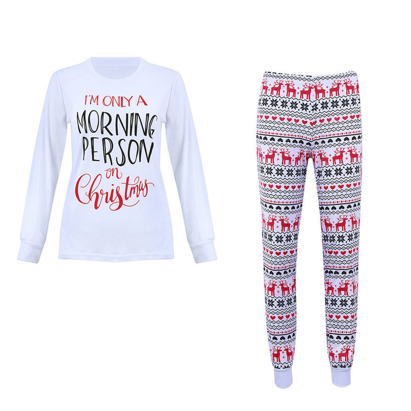 Christmas Winter Warm Women's Sleepwear Sexy   Pajama     Set   Babydoll Pyjamas Long Sleeve Cute Tops and Pants Female Nightwear   Sets