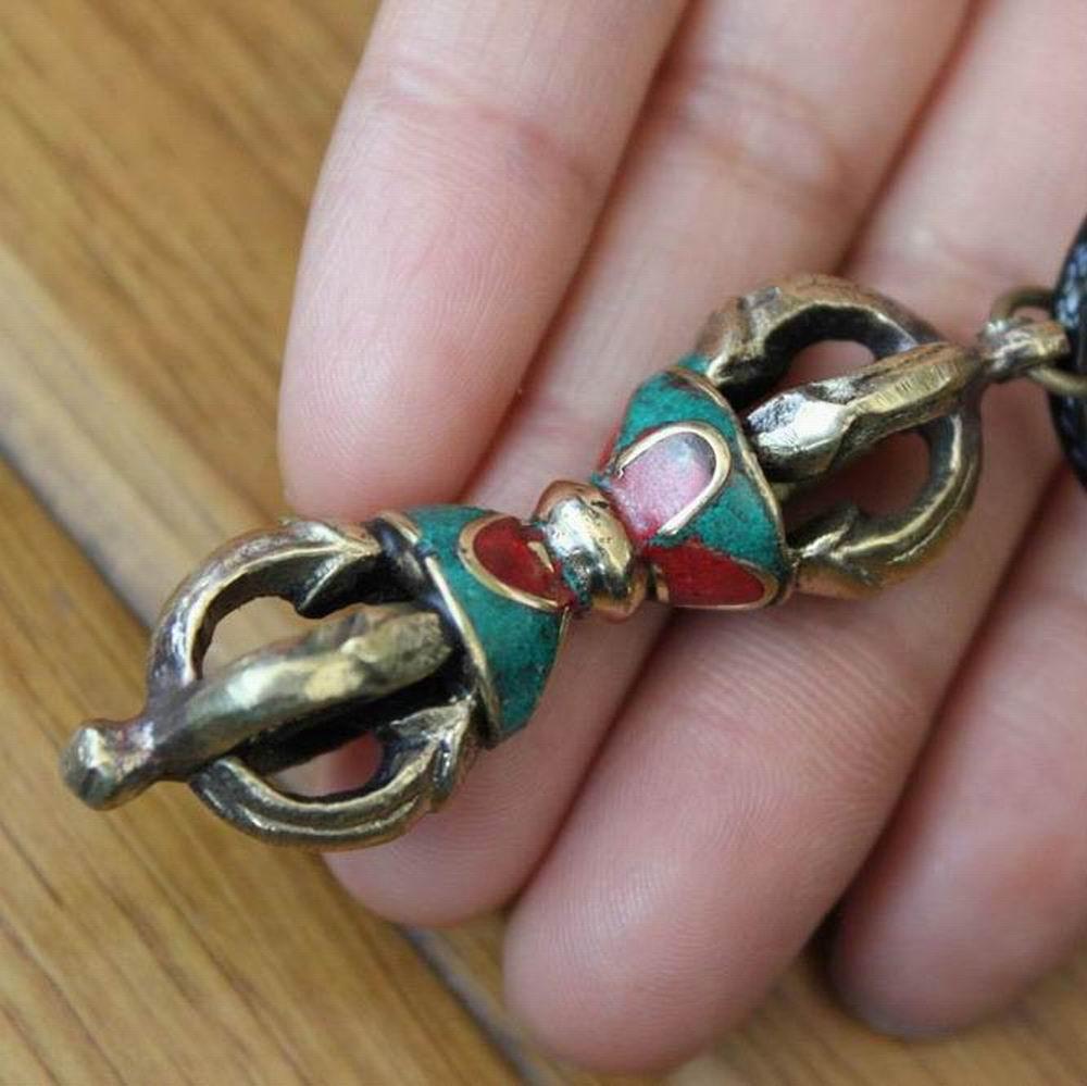 Ehrlich Pn143 Vintage Tibetischen Schmuck Kupfer Dorje Vajra Amulett Anhänger Antiqued Kingkong Anhänger Für Mann Ein Unbestimmt Neues Erscheinungsbild GewäHrleisten
