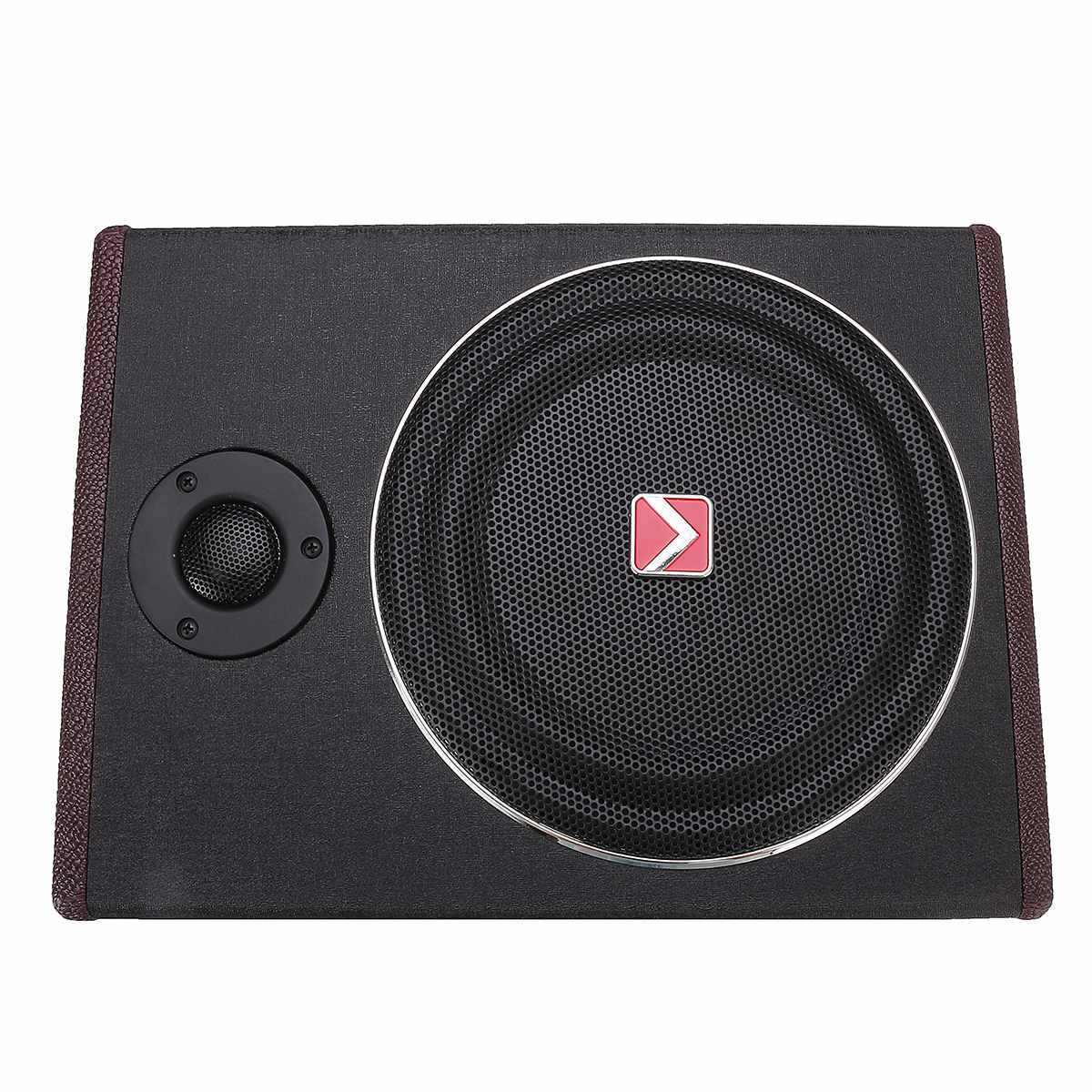 8 Inch 600W Car Subwoofers Car Amplifier Subwoofers Car Speaker Active Subwoofer Car Under Seat Slim Sub Woofer AMP Super Bass