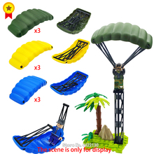 Купить с кэшбэком military Building Blocks parachute PUBG Special forces force Air raid DIY WW2 battlefield Figures Mini with Toy Lepin legoINGlys