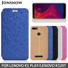 JONSNOW Flip Case for Lenovo K5 Play K320t Luxury Leather Protective Case for Lenovo A5 K5 Pro K5S S5 Z6 Lite Z6 Pro Phone Cover(China)