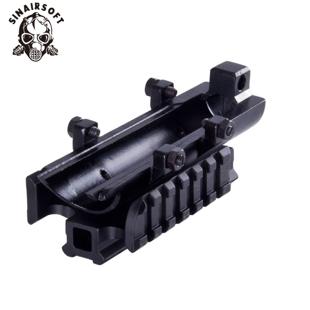SINAIRSOFT New Gen SKS Tri-Rail Táctico See-thru Cover Scope Mount MNT-T640TR Accesorios de caza Envío gratis