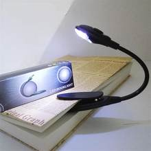 Led Book Light Mini Clip-On Flexible Bright LED Lamp Light Book Reading Lamp For Travel Bedroom Book Reader Christmas Gifts(China)