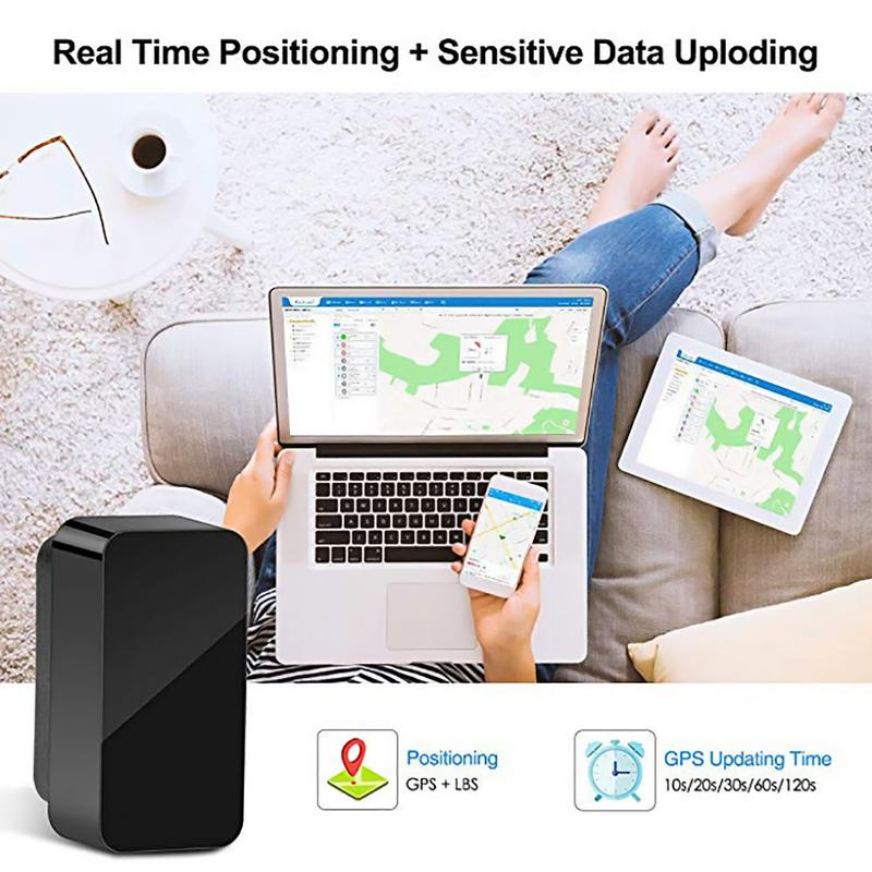 Car OBD GPS Tracker - Plug and Play OBD2 Real Time Locator with SOS Alarm Geo-fence, Fre