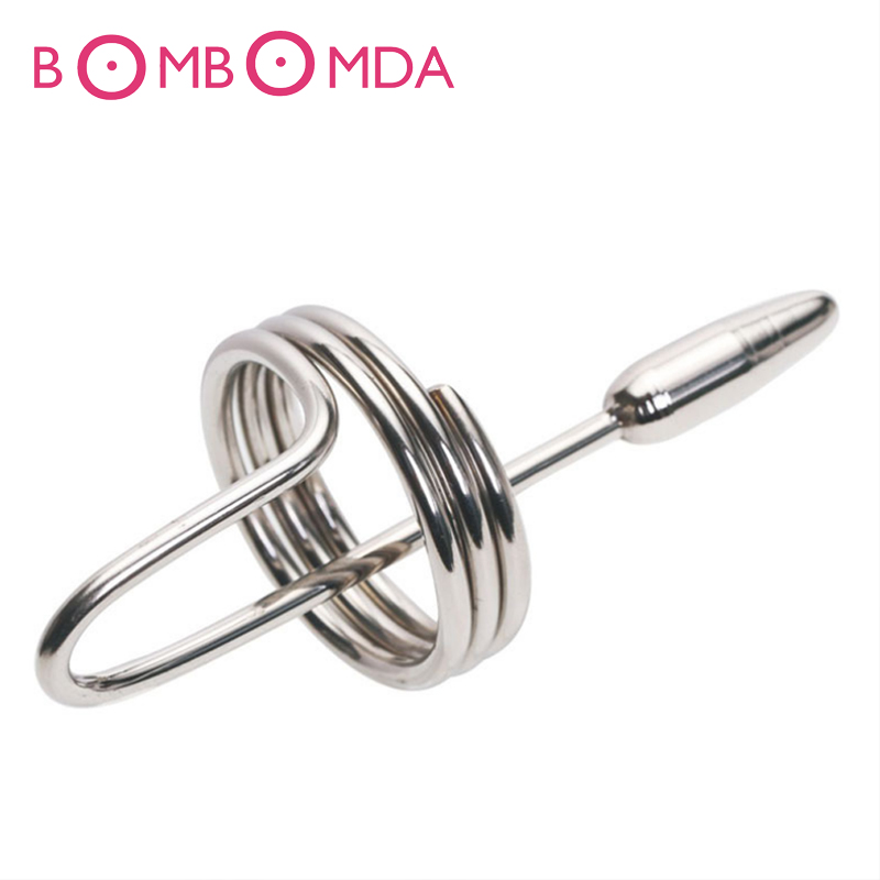 Male Stainless Steel Urethral Plug Catheter Insert Sounds Urethral Dilator Metal Catheter Fetish Chastity Sex Toys Adult GamesO3Male Stainless Steel Urethral Plug Catheter Insert Sounds Urethral Dilator Metal Catheter Fetish Chastity Sex Toys Adult GamesO3