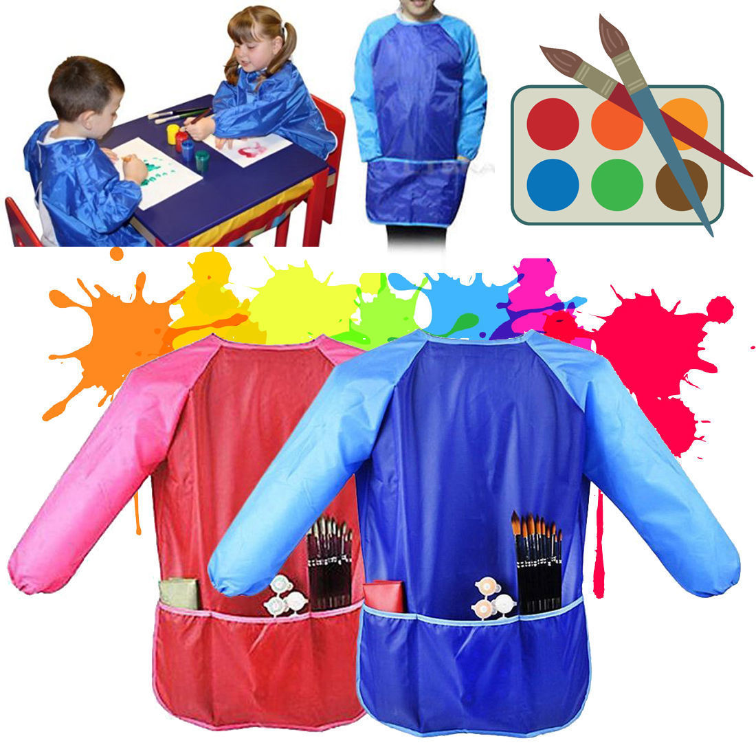 Childrens Jackets Arts & Crafts Apron Lights & Lighting Cooking Baking Painting Kids Apron Play-dough Complete Range Of Articles
