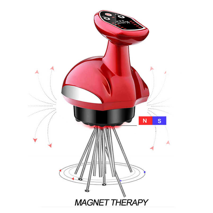 Image 2 - Electric Cupping Massager Suction Vacuum Magnet Therapy Guasha Scraping Massage Stimulate Acupoint Body Slimming Rechargeable-in Cupping from Beauty & Health