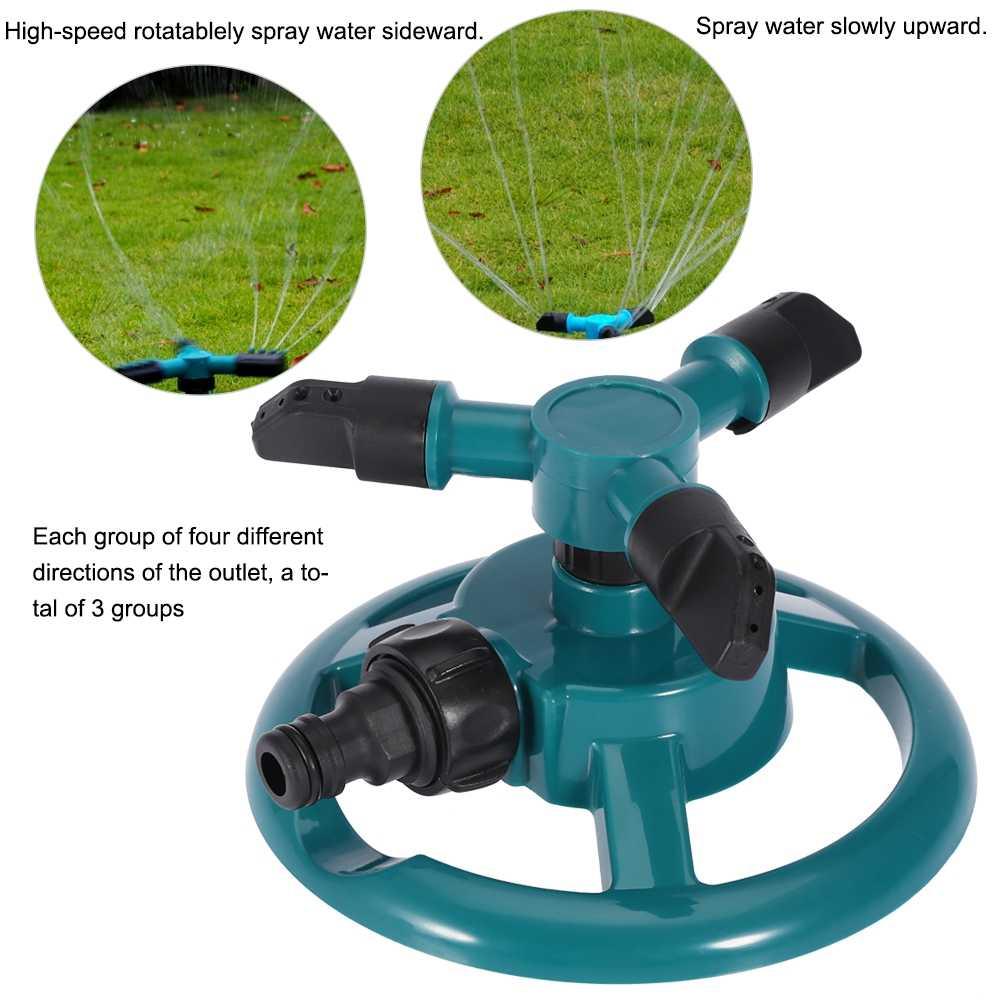 Garten Sprinkler Automatische Bewässerung Gras Rasen 360 Grad 3 Düse Kreis Rotierenden Bewässerung System