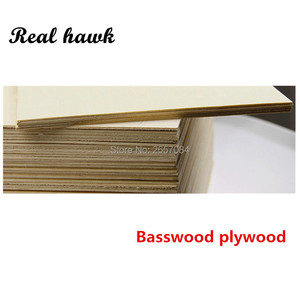 Image 3 - 297x210x1/1.5/2/3/4/5/6mm super quality Aviation model layer board basswood plywood plank DIY wood model materials