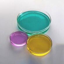 Посуда Петри из боросиликатного стекла с крышкой, посуда для культуры, посуда Петри для лабораторных экспериментов диаметром 100 мм, 2 комплекта/коробка