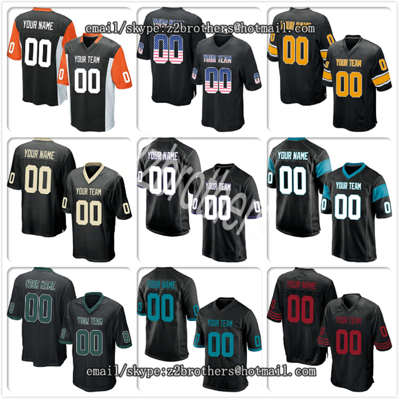 Custom Gray Mesh Replica Football Game Jersey Embroidered Team Logo Your Own Name Number For Men Women Kids High School College America Football Team Sports