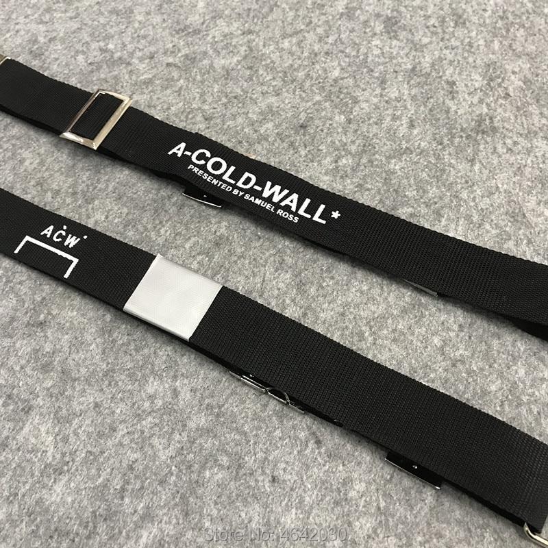 2019ss New Best Version Japan Hiphop ACW A-COLD-WALL Belt Streetwear Men Women Fashion Canvas Belt Kanye Alyx Belt Black