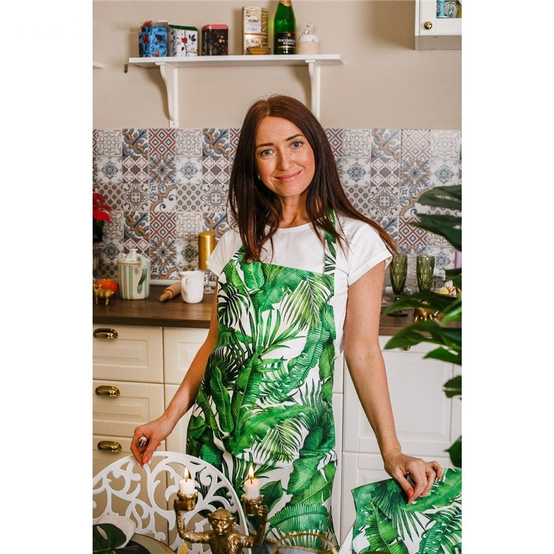 Apron Ethel Tropics 60х65 cm cm, 100% CHL, twill 190 C/m2 4017233 table cloth round ethel rose d 160 cm 100