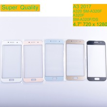 10Pcs/lot For Samsung Galaxy A3 2017 A320 A320F SM-A320F/DS Touch Screen Front Glass Panel TouchScreen Outer Glass Lens NO LCD