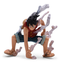 10 cm Anime One Piece Vaporization Monkey D. Luffy PVC Action Figure Doll Collectible Model Baby Toy Christmas Gift For Children 8 66statue one piece the straw hat pirates monkey d luffy vs rob lucci gk action figure collectible model toy 22cm box d822