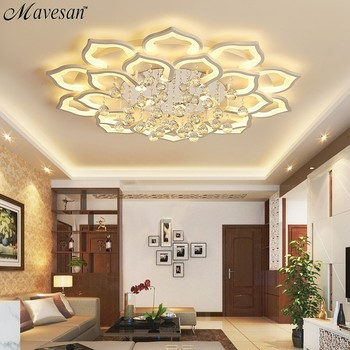 Led Ceiling Lights Living Room for 15-25square meters bedroom with crystal remote control lamparas detecho moderna home fixtures