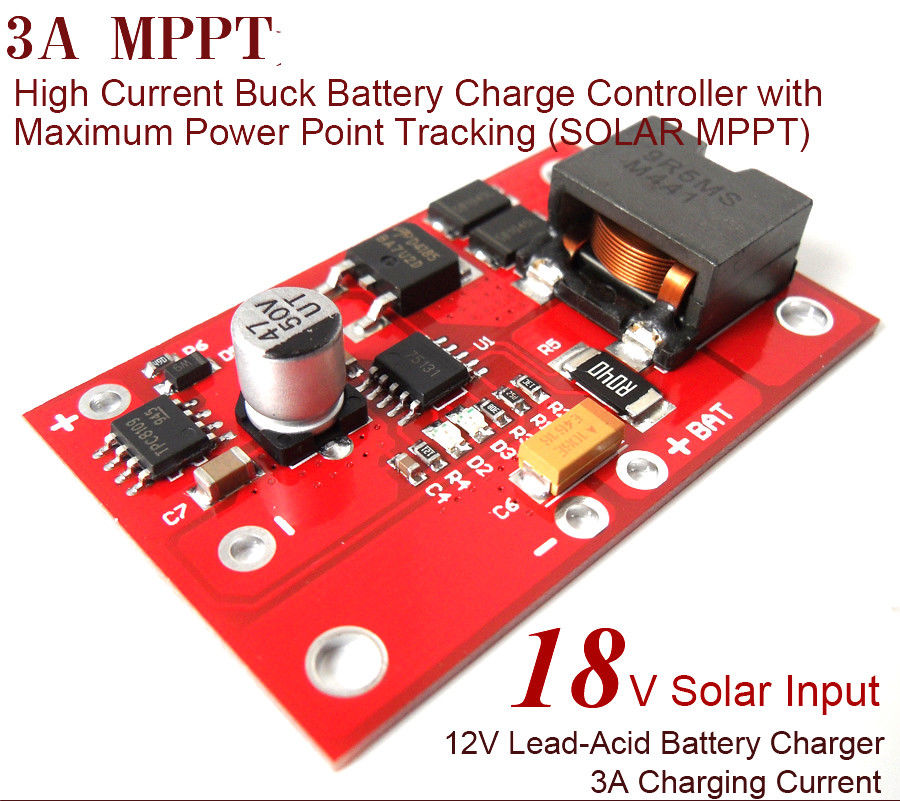 MPPT Solar Controller dc 12v lead-acid Battery Charging 3A Charger Module power PWM Buck turbulent, constant current, overchargeMPPT Solar Controller dc 12v lead-acid Battery Charging 3A Charger Module power PWM Buck turbulent, constant current, overcharge