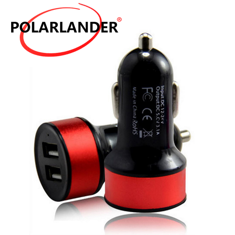 Car charger adapter Universal  dual USB car charger car charger For mobile phones and digital cameras etc
