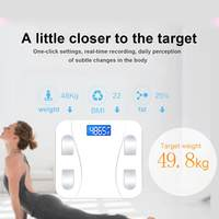 Bluetooth Body Scale Glass Body Fat Scale Smart Electronic Healhty Scales Mini Wifi LED Digital Weight With IOS & Android App