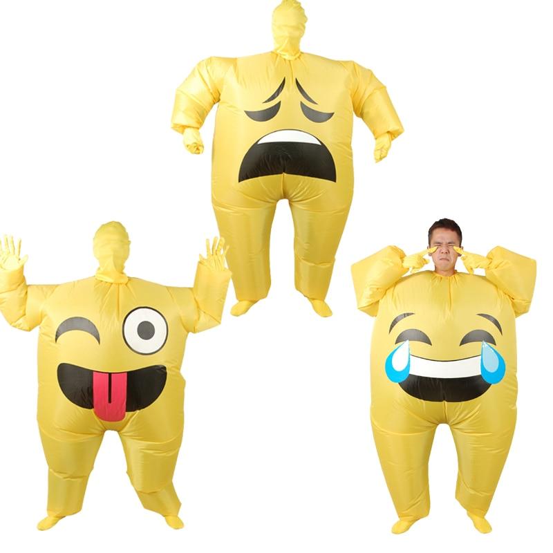 Fytyra me inflatable Emoji me kostume për të Rriturat Veshja me - Kostumet
