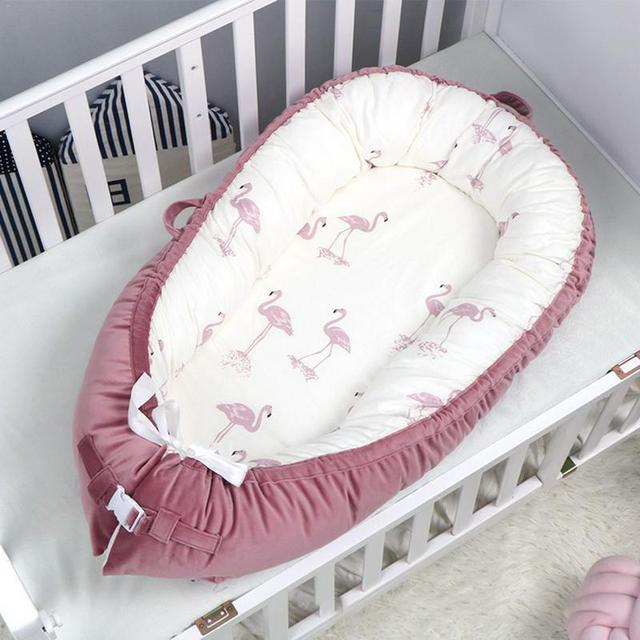 Nuevo Bebé portátil nido cama bebé cuna bebé niño cuna para Recién Nacido guardería viaje plegable bebé cama nido