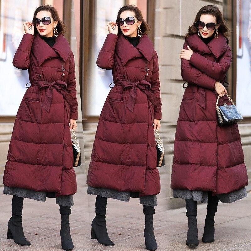 Épais Black Duvet Femme Femmes De Hiver La Parka Plus A620 Vêtements Pardessus wine gray 2018 Red Veste Blanc Européenne Canard Manteau Feminina Élégant Taille nPXNk8wO0