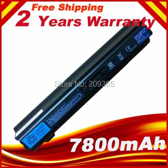 7800mAh Battery For Acer Aspire One 521 752 1410 1810 UM09E31 UM09E32 UM09E36 UM09E51 UM09E56 UM09E70 UM09E71 UM09E75 UM09E78