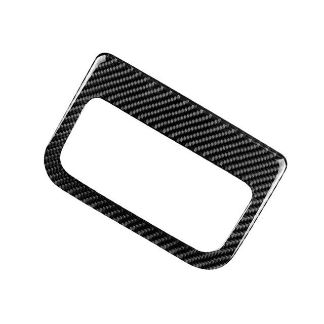 لمازدا CX 5 CX5 2017 2018 ألياف الكربون سيارة مركز مسند الذراع صندوق الخلفي تنفيس الهواء منفذ غطاء