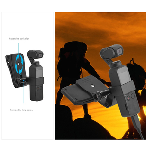 Image 5 - For Osmo Pocket Accessories Set,Ptz Adapter With Ptz Extension Rod And Car Bracket And Bicycle Bracket And Film 2 Suit And Bac