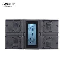 Andoer 디지털 카메라 배터리 충전기 캐논 eos 5dii 5ds 6d 7dii 80d dc 자동차 충전기 lcd 디스플레이 eu 미국 플러그에 대 한 4 채널