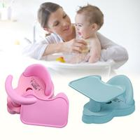 Removable Non slip Food Grade Silicone Baby Shower Chair Children's Bath Net Bathing Chair Bath Desk Baby With Plate Seat