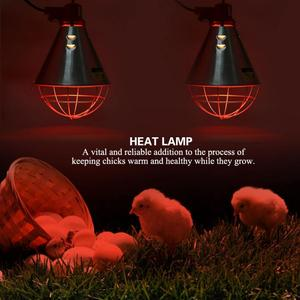 Image 5 - EU Plug 220V Infrared Red Heat Lamp Bulb with Hi Low Temperature Setting Light for Poultry Chicks Pig Reptile Warmer Lamp