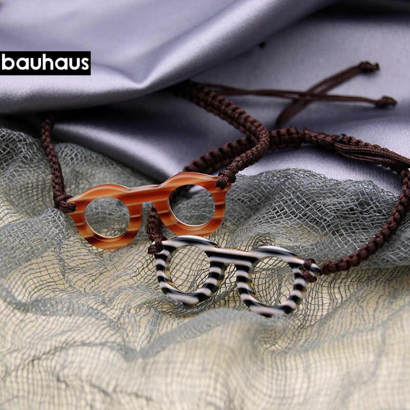 Bauhaus 2017 yeni moda zarif çok renkli pamuk kordon el yapımı örme bilezik bileklik İtalya tasarım