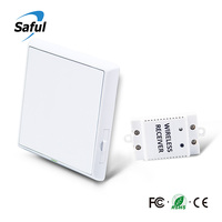Saful Waterproof Wireless Remote Control Light Switch One Way 12V LED Wall Switch 433MHz Push Switch Relays For Smart Home
