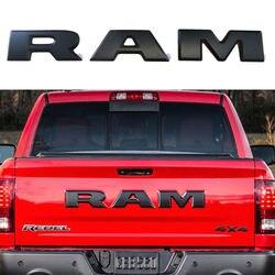 Un conjunto tailgate emblema nuevo y alto Qaulity 3D puerta Ram emblem Trim Letter set de 3 para 2015-2018 Dodge Ram 1500