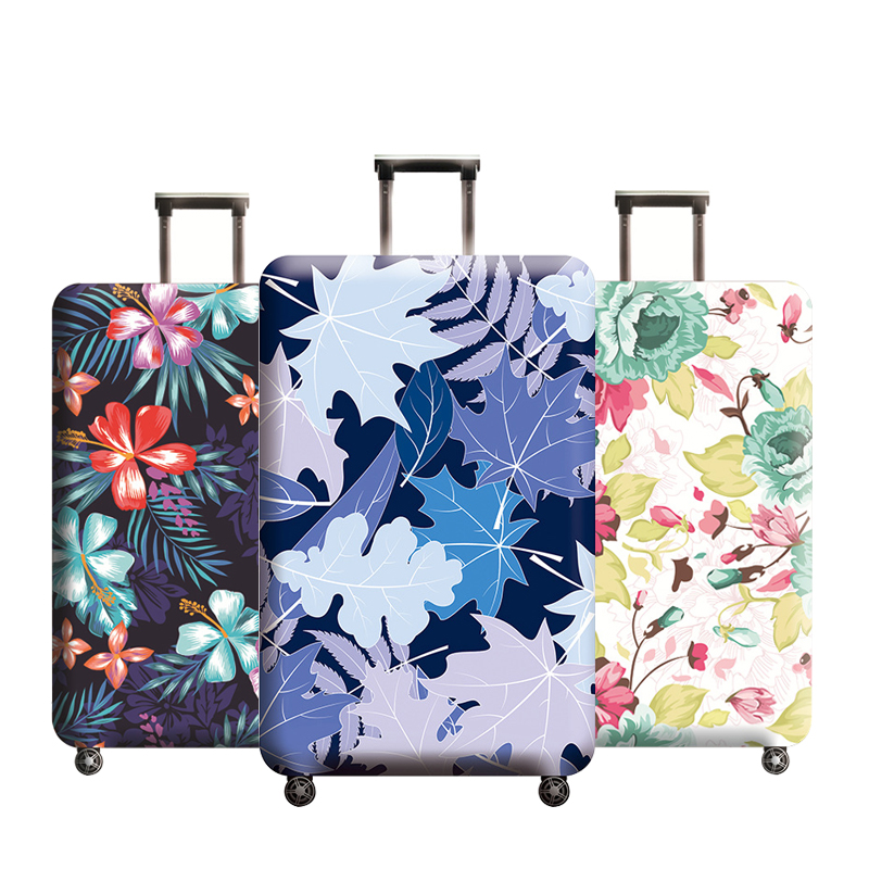 Floral Travel Luggage Cover Protective Suitcase Case Elastic Fabric Baggage Protector Dust Cover for 18-32 Inch Trip AccessoriesFloral Travel Luggage Cover Protective Suitcase Case Elastic Fabric Baggage Protector Dust Cover for 18-32 Inch Trip Accessories