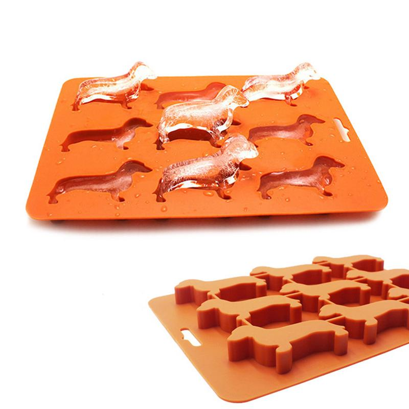 Cute Cavity Dog Bone Silicone Cake Baking Mold Chocolate Biscuit Ice Cube Mould