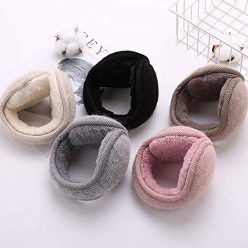 Womens Mens Winter Outdoors Warmers Ear Bags Earmuffs Bandless Fleece Ear Earcap