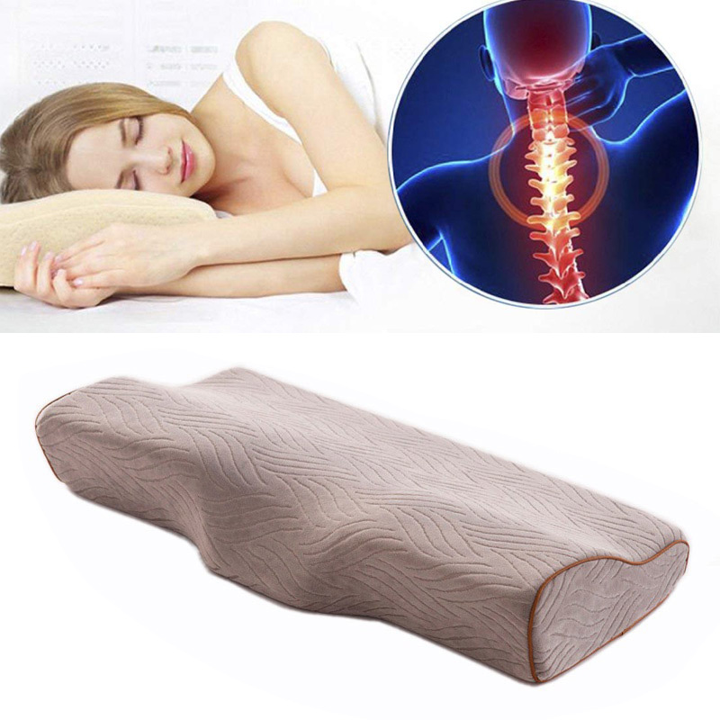 sleep memory foam pillow bed orthopedic pillows for neck pain ergonomic pillow and back sleepers side sleepers stomach sleeper