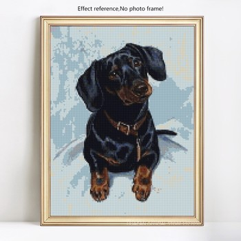 HUACAN 5D DIY Diamond Painting Dog Diamond Embroidery Cross Stitch Animal Diamond Mosaic Picture Of