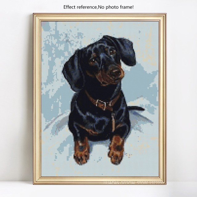 HUACAN 5D DIY Diamond Painting Dog Diamond Embroidery Cross Stitch Animal Diamond Mosaic Picture Of Rhinestones