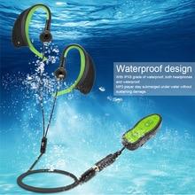 مشغل MP3 صغير مقاوم للماء 8GB مشغل موسيقى تشغيل السباحة الغوص IPX8 مقاوم للماء في الهواء الطلق الرياضة مشغل موسيقى مع سماعة رأس