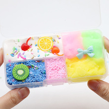 Favourite Boxed Cherry Cotton Mud Slime Bow Diyslime Kit Crystal Toys Colorful Plasticine DIY The new listing Berserk